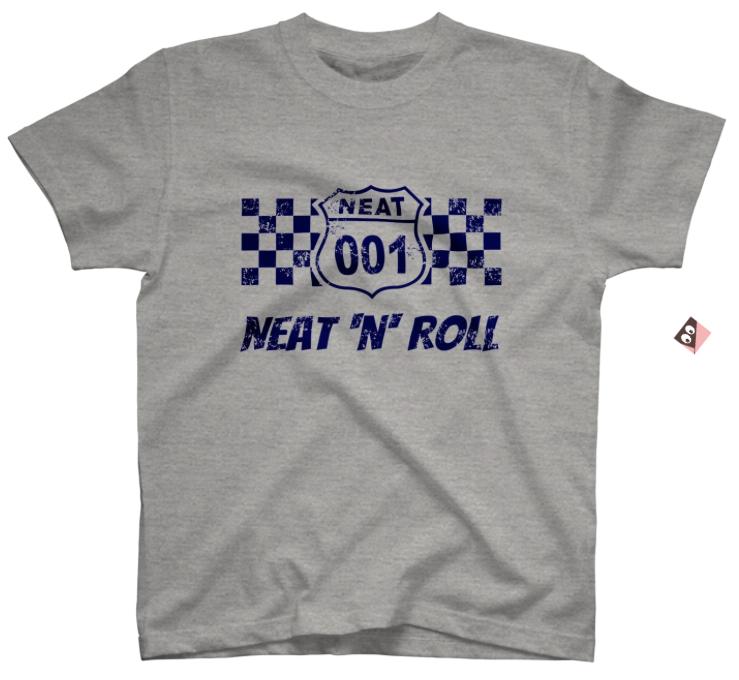 NEAT001オリジナルTシャツグレー