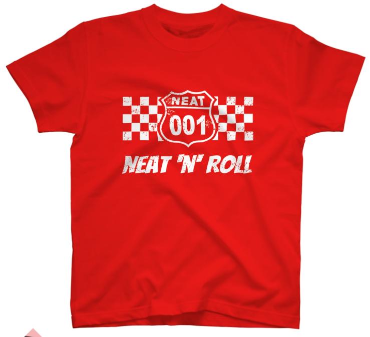 NEAT001オリジナルTシャツ赤